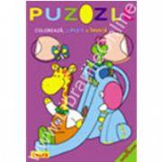 Puzzle - Coloreaza, lipeste si invata. Cercul