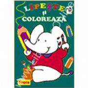 Seria Lipeste si coloreaza - Elefantul