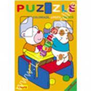 Puzzle - Coloreaza, lipeste si invata. Dreptunghiul