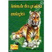 Animale din gradina zoologica (pliant color cartonat)