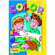Seria COLOR Ariciul - carte de colorat cu site Internet