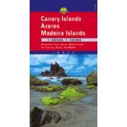 Harta rutiera Ins. Canare, Azores şi Madeira