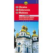 Hartă rutieră Ucraina, Belorusia, Moldova