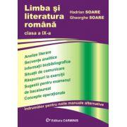 Limba si literatura romana. Clasa a IX-a. Indrumator pentru noile manuale alternative