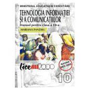 TEHNOLOGIA INFORMATIEI SI A COMUNICATIILOR.Manual pentru clasa a X-a