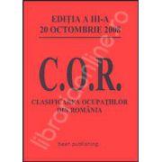 Clasificarea ocupatiilor din Romania. C.O.R. Editia a III-a