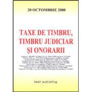 Taxe de timbru, timbru judiciar si onorarii. Editia I