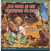 Ali Baba si cei patruzeci de hoti. Carte ilustrata din colectia Pas cu Pas