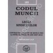 Codul muncii. Legea sindicatelor. Contractul colectiv de munca unic la nivel national pe anii 2007-2009