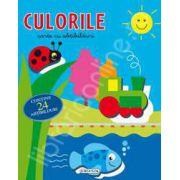 Culorile - carte cu 24 abtibilduri