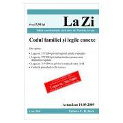 Codul familiei si legile conexe (actualizat la 10.09.2009)