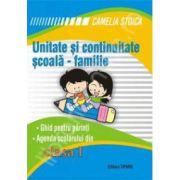 Unitate si continuitate clasa I. Scoala-familie (Agenda elevului)