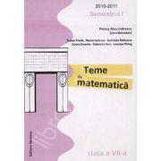Teme de matematica clasa a VII-a, Semestrul I (2010-2011)