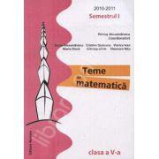 Teme de matematica clasa a V-a, Semestrul I (2010-2011)