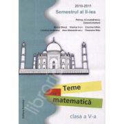 Teme de matematica clasa a V-a. Semestrul al II-lea, 2010-2011