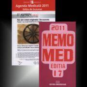 Set. Agenda medicala 2011 si MEMOMED 2011. Memo Med 2011 ghid farmacoterapic alopat si homeopat - Editia 17