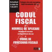 Codul fiscal cu Normele de aplicare si Codul de procedura fiscala - Actualizat la 07. 02. 2011