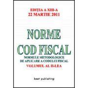Norme metodologice de aplicare a Codului fiscal actualizat la 22.03.2011 - Volumul II