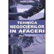 Tehnica negocierilor in afaceri (note de curs)