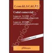 Codul comercial, legea nr. 31/1990 privind societatile comerciale. Legea nr. 85/ 2006 privind procedura insolventei (Actualizat 18 mai 2011)
