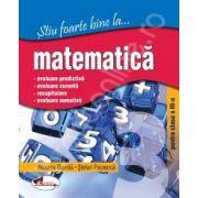 Matematica, clasa a III-a (Stiu foarte bine la...)