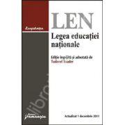 Legea educatiei nationale actualizata 1 decembrie 2011