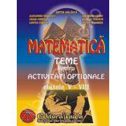 Matematica. Teme pentru activitati optionale, clasele V - VIII (Culegere)