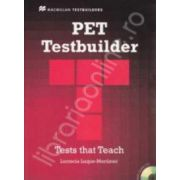 PET Testbuilder with key and CD. Test that teach