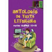 Antologie de texte literare, pentru clasele III-IV