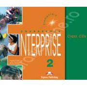 Curs de limba engleza. Enterprise 2 Elementary. Class audio CDs (Set 3 CD)
