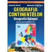 Geografia continentelor. Geografia Europei, manual pentru clasa a VI-a