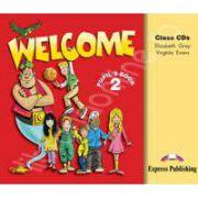 Curs de limba engleza pentru clasa a IV-a. Welcome 2 audio CD (Set 3 CD-uri)