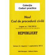 Noul Cod de procedura civila 2012. Intrare in vigoare 1 septembrie 2012