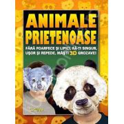 Animale prietenoase (Fara foarfece si lipici, fa-ti singur, usor si repede, masti 3D grozave)
