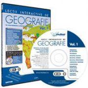 CD, interactiv. Lectii interactive de geografie pentru liceu, Volumul I