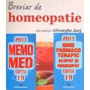 Setul complet al farmacistului. MemoMed 2013 in 2 Volume si Breviar de homeopatie. Editia a 3-a