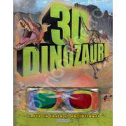 Dinozauri 3D - Carte cu teste si abtibilduri