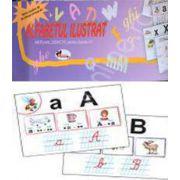 Alfabetul ilustrat, cu 39 de planse. Material didactic pentru clasele I-II