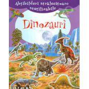 Abtibilduri stralucitoare reutilizabile - Dinozauri (+4 ani)