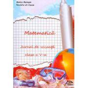 Matematica. Jurnal de vacanta pentru clasa a V-a