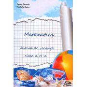Matematica. Jurnal de vacanta pentru clasa a VI-a