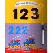 Scrie si sterge de cate ori vrei! 1, 2, 3 (+6 ani)
