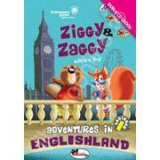 Ziggy and Zaggy - Adventures in Englishland, editia a II-a. Contine 2 CD-uri