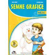 """Semne grafice nivel 5-6 ani (Colectia ,,Leo te invata"""") Editie, 2012"""