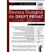 Revista romana de drept privat nr. 3/2013 - Anul Valeriu Stoica