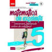 Matematica de excelenta (Mate 2000). Pentru concursuri, olimpiade si centrele de excelenta, clasa a V-a