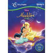 Aladdin - Aladin. Invata despre fructe si culori (Povesti bilingve)