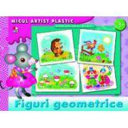 Figuri geometrice. Micul artist plastic, activitati 3-5 ani