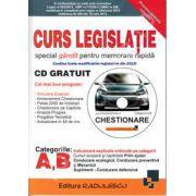 Curs de legislatie rutiera, pentru categoriile A, B (Contine CD, gratuit)