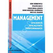 Verboncu Ion, Management. Eficienta, eficacitate, performante